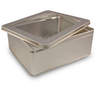 tin box 8 inches by 6 inches